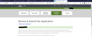 The CHAMP application: Revie & Submit My Application