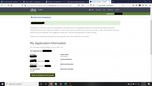 The CHAMP application: My Application Information