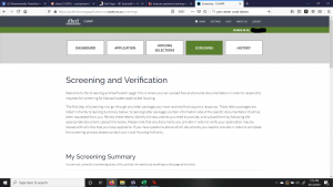 The CHAMP application: Screening and Verification